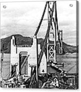 Golden Gate Bridge Work Acrylic Print