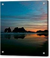 Golden Morning At A Beach  Acrylic Print