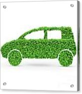 Green Car Acrylic Print