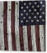 Grungy Textured Usa Flag Acrylic Print