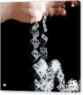 Hand Rolling Dice Acrylic Print