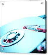 Hard Disc Acrylic Print by Tek Image