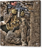 Hdr Image Of A German Army Soldier Acrylic Print