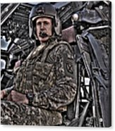 Hdr Image Of A Pilot Sitting Acrylic Print