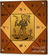 Horoscope Types, Engel, 1488 Acrylic Print by Science Source