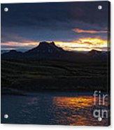 Iceland Midnight Sun Acrylic Print