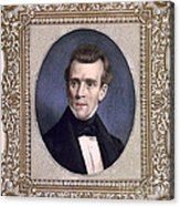 James Polk, 11th American President Acrylic Print by Photo Researchers