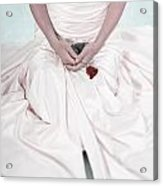 Lady With A Rose Acrylic Print