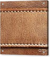 Leather With Stitching Acrylic Print