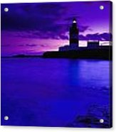 Lighthouse Beacon At Night Acrylic Print