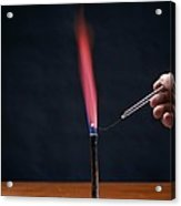 Lithium Flame Test Acrylic Print by Andrew Lambert Photography