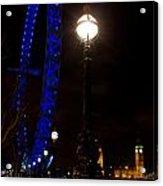 London Eye Night View Acrylic Print