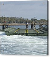Marines And Sailors Tow An Improved Acrylic Print