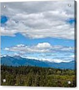 Massive Cloudy Sky Above The Wilderness  Acrylic Print