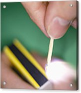 Match Igniting Acrylic Print