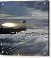 Mc-130p Combat Shadow Dropping Flares Acrylic Print