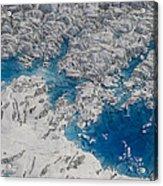Meltwater Lakes On Hubbard Glacier Acrylic Print