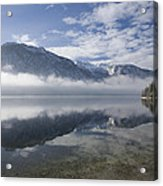 mist burning off Lake Bohinj Acrylic Print