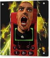 Mobile Phone Rage Acrylic Print