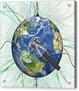 Monitoring Earth, Conceptual Artwork Acrylic Print