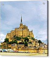 Mont Saint Michel Acrylic Print by Elena Elisseeva