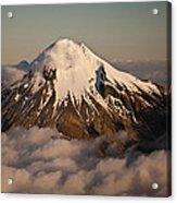 Mount Taranaki Above The Clouds New Acrylic Print