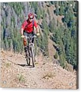 Mountain Biking Acrylic Print