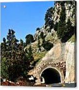 Mountain Tunnel. Acrylic Print