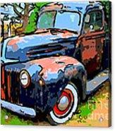 Nostalgic Rusty Old Truck . 7d10270 Acrylic Print