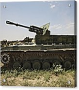 Old Russian Bmp-1 Infantry Fighting Acrylic Print