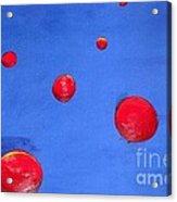 Orbs In Space 1 -- Crossing Paths Acrylic Print