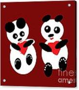 2 Pandas In Love Acrylic Print