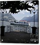 Passenger Ship On An Alpine Lake Acrylic Print