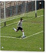 Photo Puzzle Of The Goalkeeper  Acrylic Print