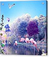 pink Flamingoes Acrylic Print