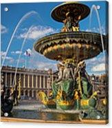 Place De La Concorde Acrylic Print