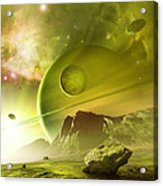 Planets In The Orion Nebula Acrylic Print