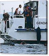 Police Divers Training Acrylic Print