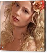 Portrait Of A Beautiful Young Woman Acrylic Print