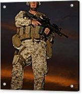 Portrait Of A U.s. Marine In Uniform Acrylic Print