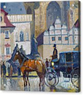 Prague Old Town Square 01 Acrylic Print by Yuriy  Shevchuk