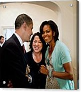 President And Michelle Obama Acrylic Print by Everett
