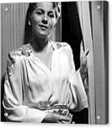 Rebecca, Joan Fontaine, 1940 Acrylic Print by Everett