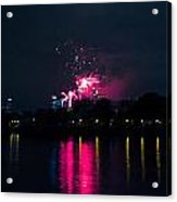 River Thames Fireworks Acrylic Print