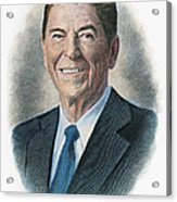 Ronald Reagan (1911-2004) Acrylic Print by Granger