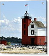 Round Island Lighthouse Acrylic Print