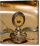 Rusted Antique Ford Car Brand Ornament Acrylic Print