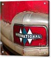 Rusted Antique International Car Brand Ornament Acrylic Print