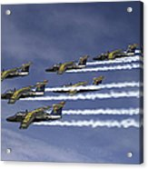 Saab 105 Jet Trainers Of The Swedish Acrylic Print