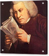 Samuel Johnson, English Author Acrylic Print